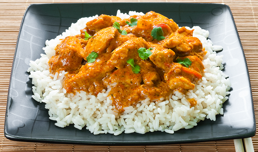 pollo al curry sin lactosa