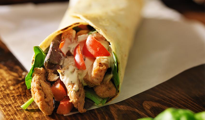 comidas sin lactosa burrito