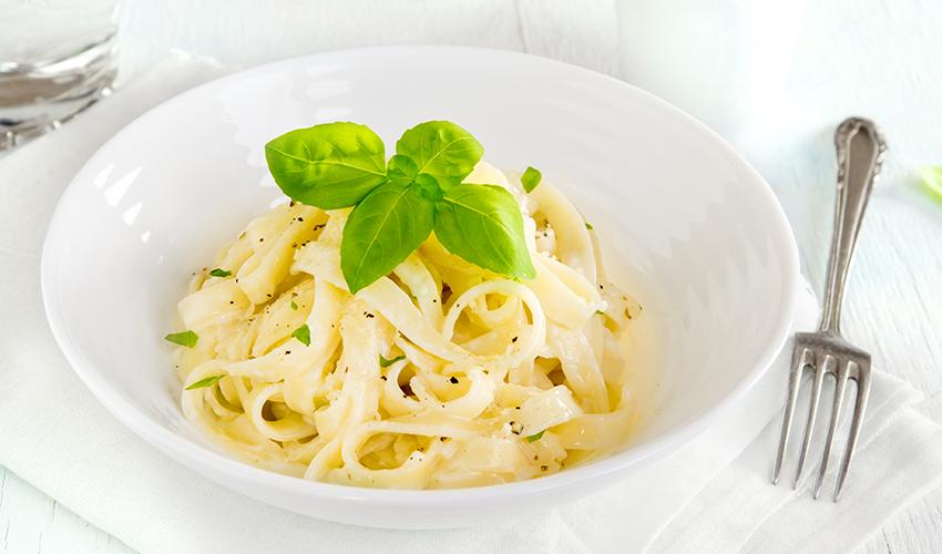 recetas sin lactosa Pasta alfredo