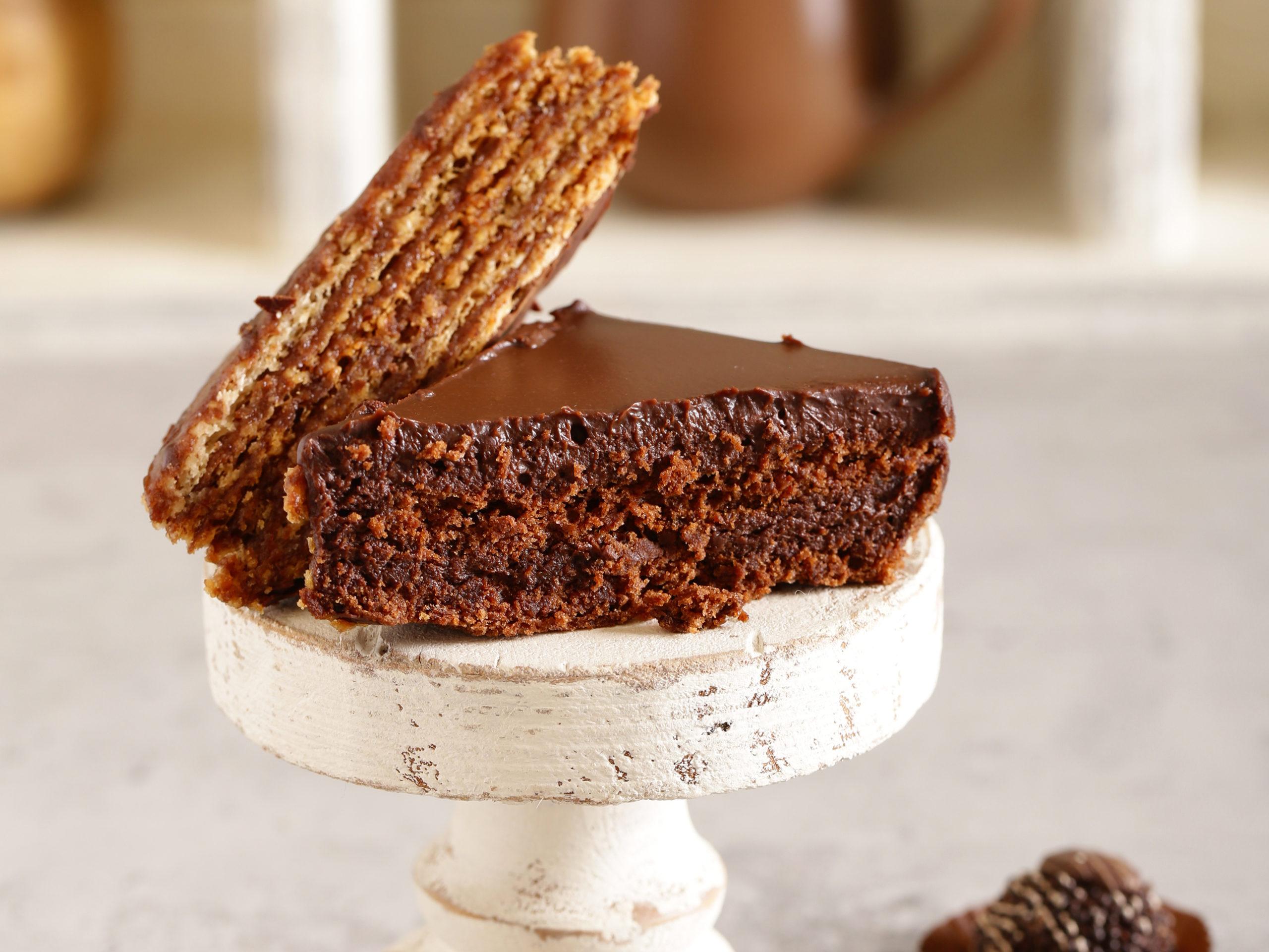 dia mundial del chocolate: Imagen del pastel sin lactosa