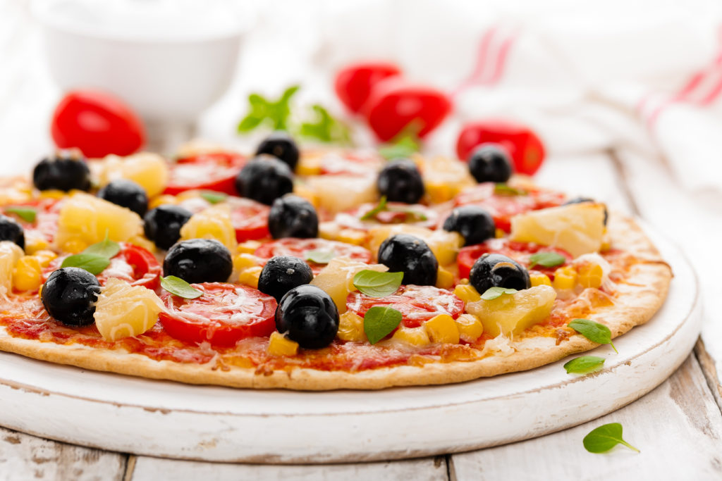 Imagen de pizza casera sin lactosa de Nutira